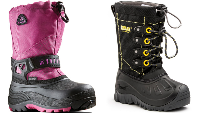 Kamik and Kodiak Insulated Kids Boots